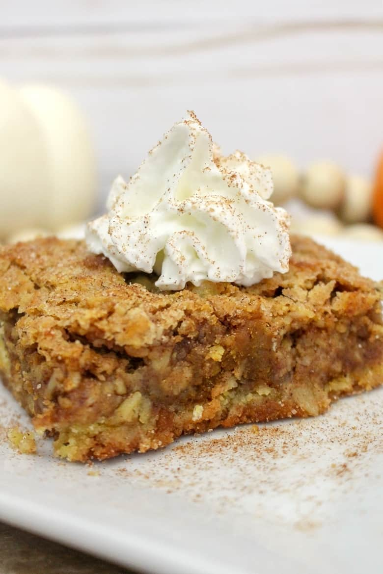 Pumpkin Crisp with Whipped Cream and Cinnamon