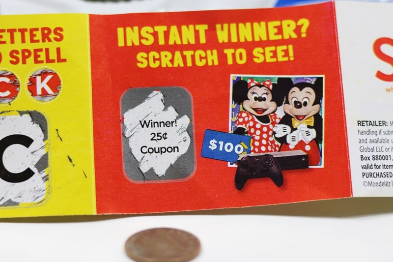 Instant Win Collect to Win Game Piece