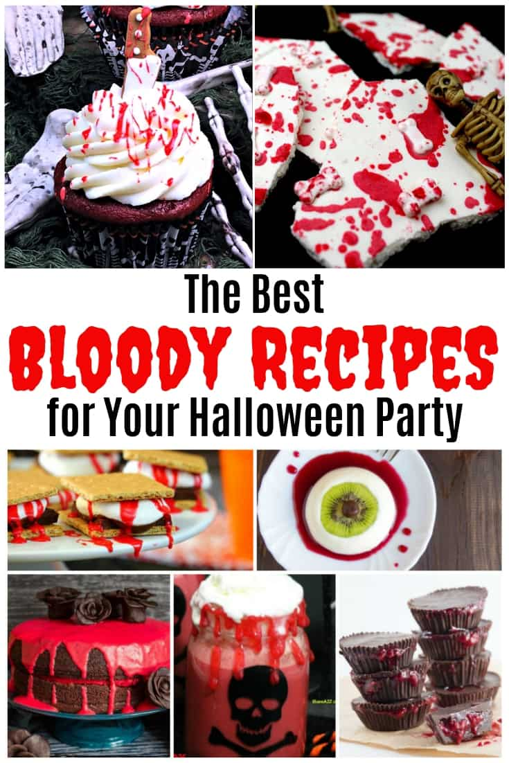 15 Creepy bloody food and drink ideas for a Halloween party. From bloody brownies to bloody beverages, you will find all the best bloody recipes here.