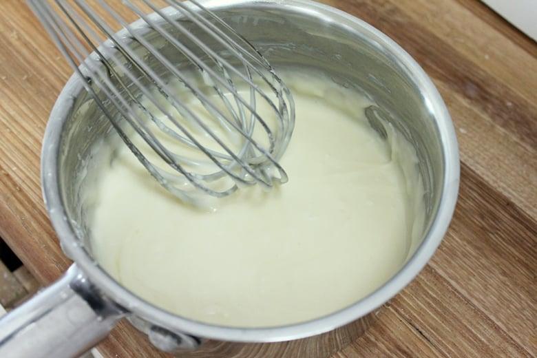 Whisk glaze ingredients together