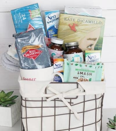 Make a Get Well Soon gift basket or care package for a sick family member or friend with these get well soon gift ideas.