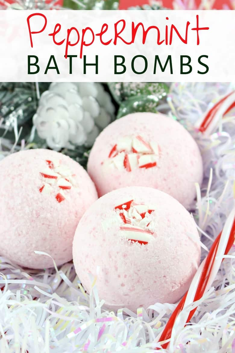 Treat yourself to a soothing and relaxing bath this holiday season with these easy and affordable homemade peppermint bath bombs. They also make a great DIY Christmas gift idea!
