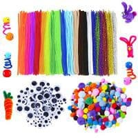 Pipe Cleaner, Pom Pom, and Googly Eyes Craft Bundle