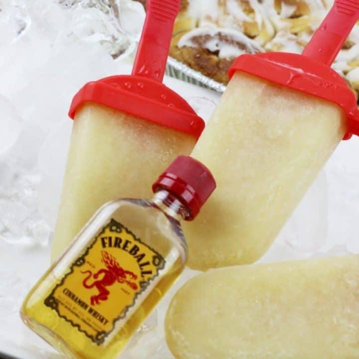 Fireball Whiskey Cinnamon Roll Boozy Ice Pop Recipe