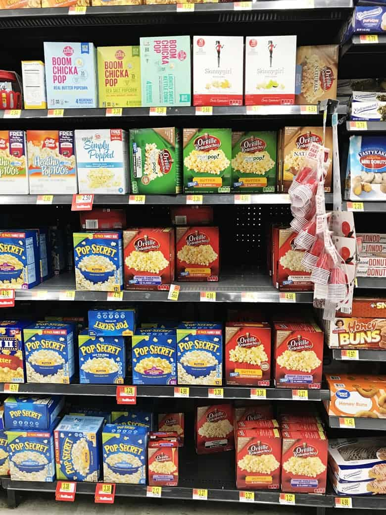 Orville Redenbacher's Popcorn at Walmart in the Popcorn and Snack aisle