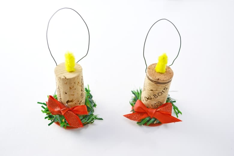 Wine Cork Candle Ornament