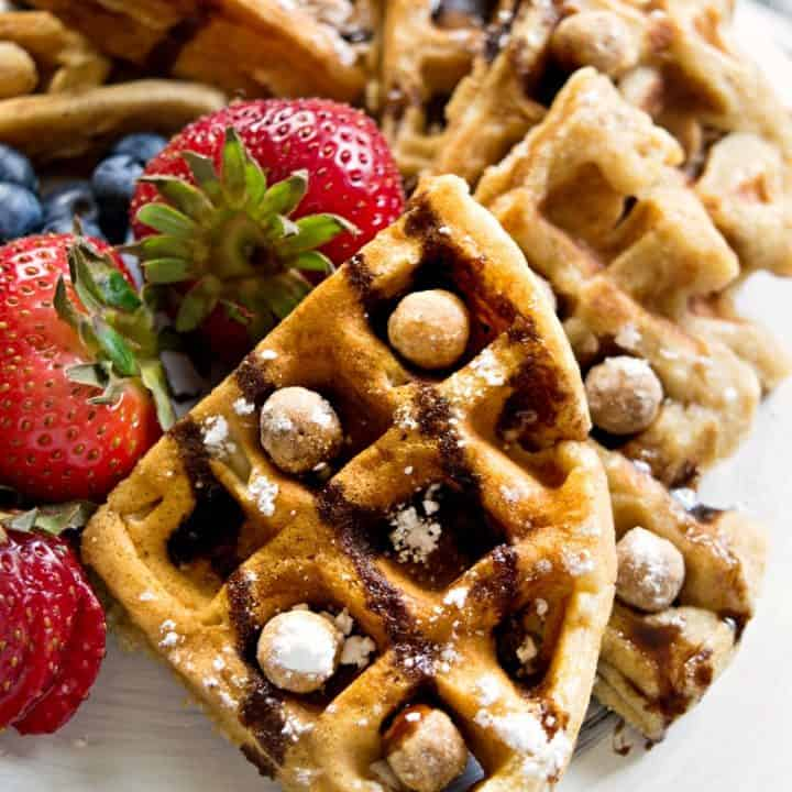 Reese's Puff Cereal Waffles Recipe