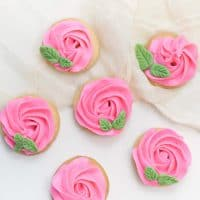 Decorated Rose Cookies