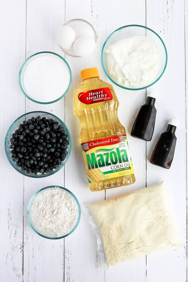 Better-For-You Blueberry Lemon Pound Cake Ingredients