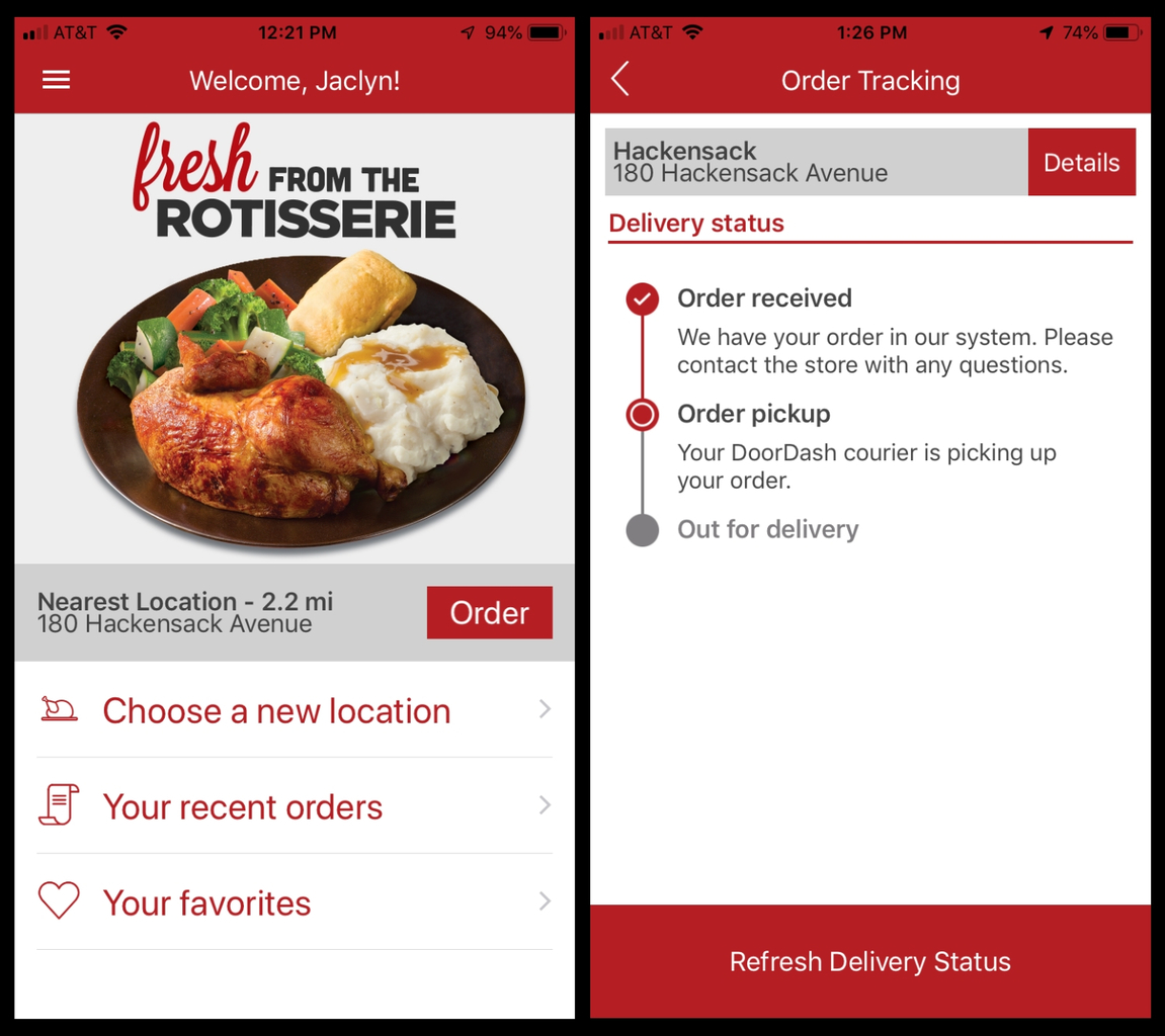 Boston Market App