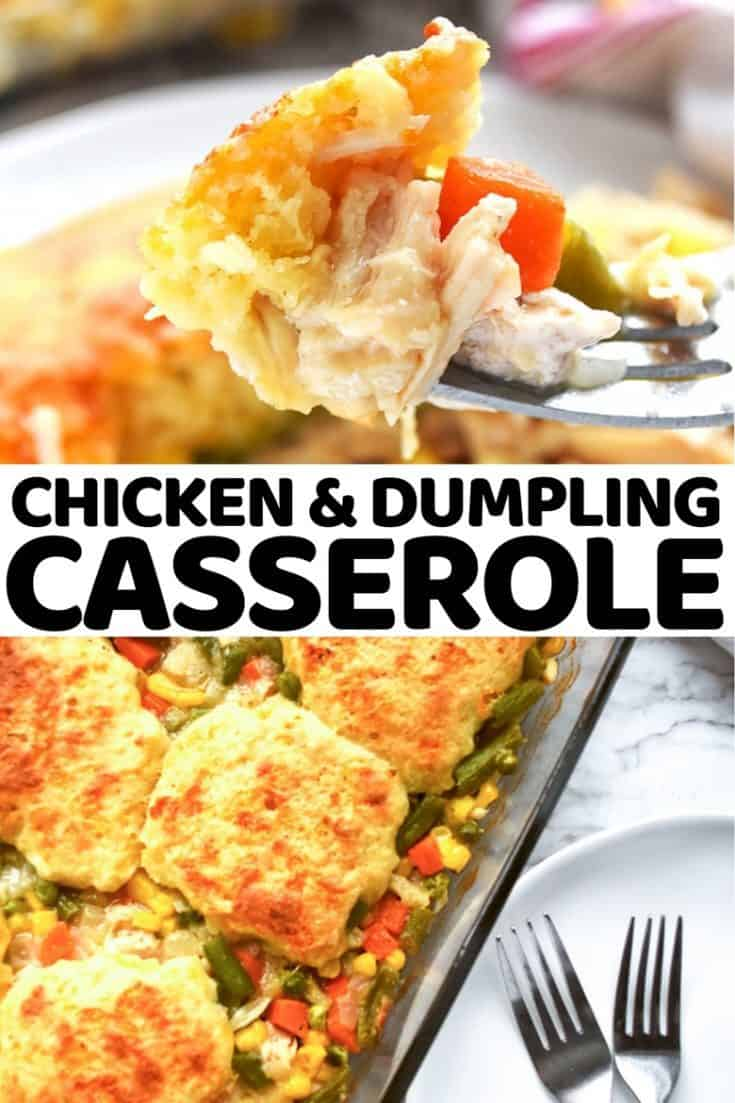 This chicken and dumpling casserole is a delicious take on a classic southern comfort food recipe that the whole family will love.