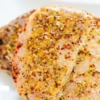 Oven Roasted Honey & Grainy Mustard Pork Chops