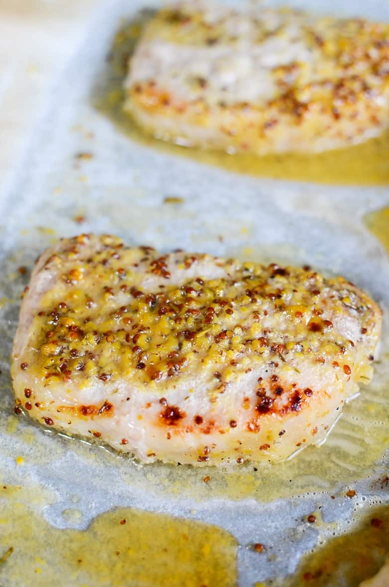 How to Make Oven Roasted Honey Mustard Pork Chops