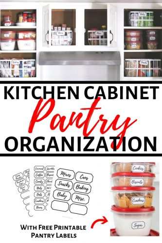 Tackle pantry organization with these 9 simple steps to clean and organize your pantry. Plus, download these free printable pantry labels!