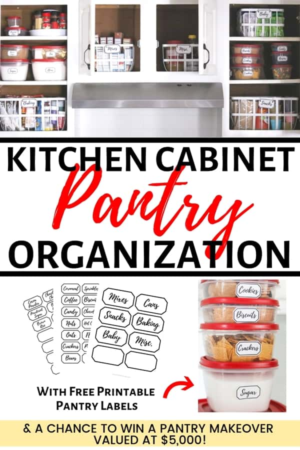 Kitchen pantry organization: 9 simple steps to clean and organize your pantry - plus free printable pantry labels!