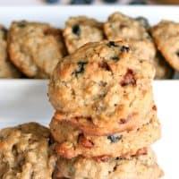 Banana Blueberry Breakfast Cookies