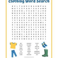 Clothing Word Search