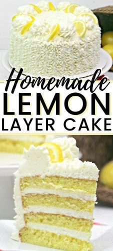 Lemon lovers rejoice! This 4-tier lemon layer cake is topped with a delicious lemon frosting for the perfect combination of sweet and tangy.