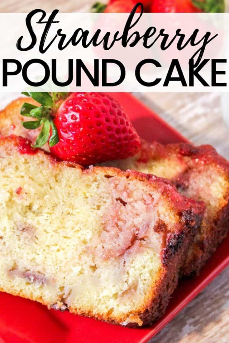 Greek yogurt combines with bits of fresh strawberries to give this homemade strawberry pound cake its moist texture and delicious flavor.