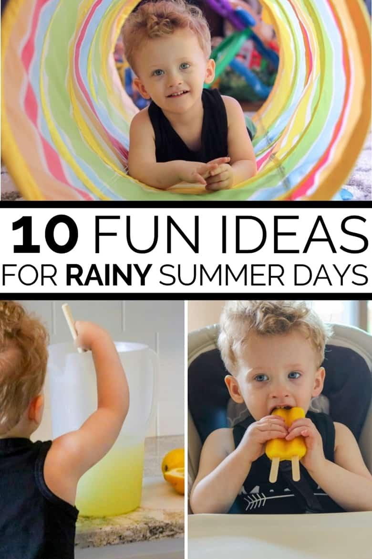 10 Fun Ideas for Rainy Summer Days Pinterest Image