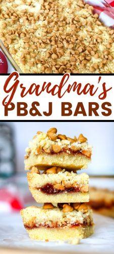 Grandma's PB&J Bars Pin Image