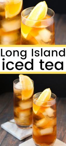 Made with 4 different liquors, the long island iced tea is the kind of mixed drink that you will only need one of -- it is strong!