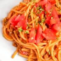 One-Pot Taco Spaghetti