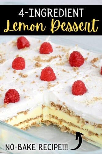 4 Ingredient Lemon Dessert