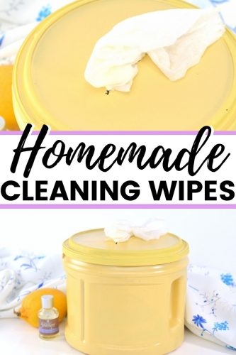 Homemade Cleaning Wipes Pin Image
