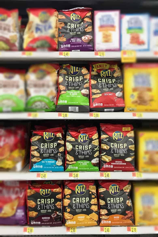 RITZ Crisp & Thins on Shelf in Walmart