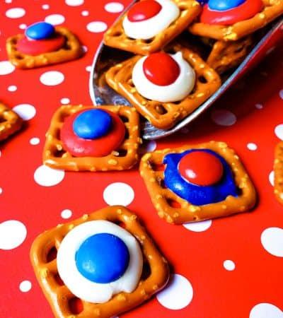 Red, White, and Blue pretzel bites