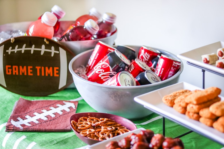 Game Day drink table