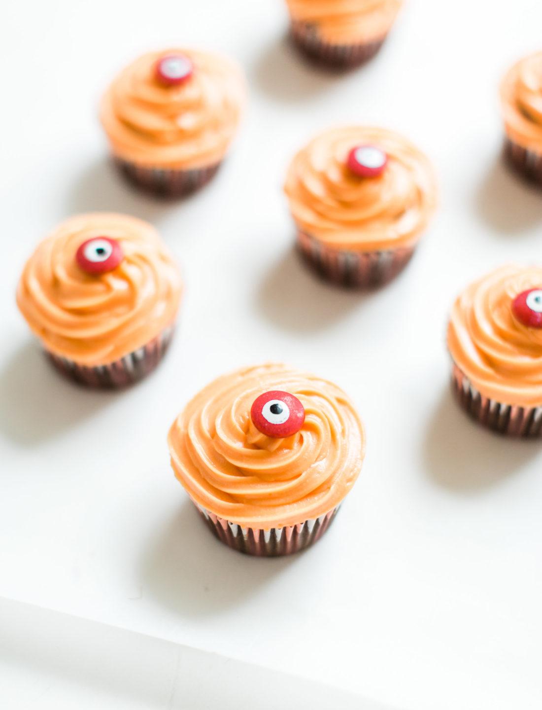 Haunted Halloween Eyeball Crazy Cake Chocolate Cupcakes