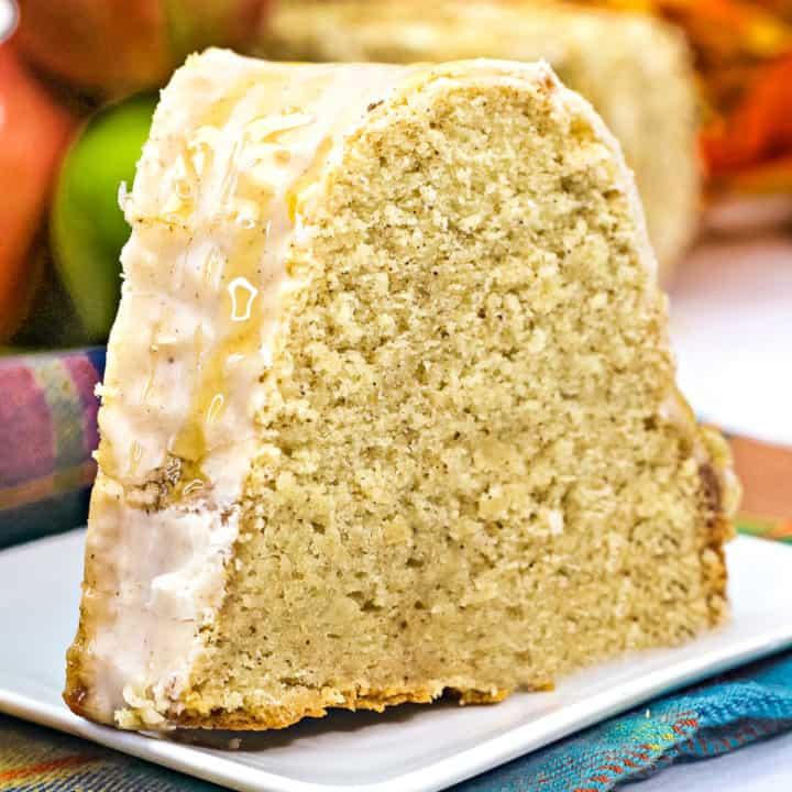 Slice of Apple Cider Bundt Cake