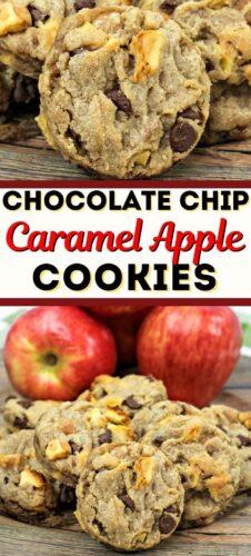 Chocolate Chip Caramel Apple Cookies