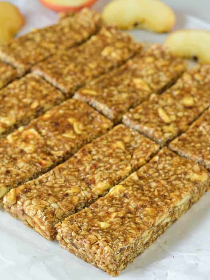 No-Bake Cinnamon Apple Energy Bars
