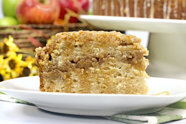 Salted Caramel Apple Coffee Cake