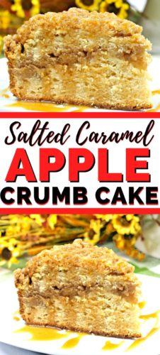 Salted Caramel Apple Crumb Cake