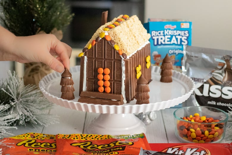 Adding Hershey's Kisses to Top or Reese's Peanut Butter Cup Trees