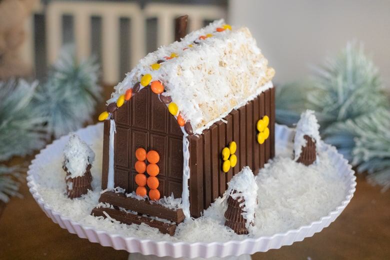 Candy Cabin with Snow