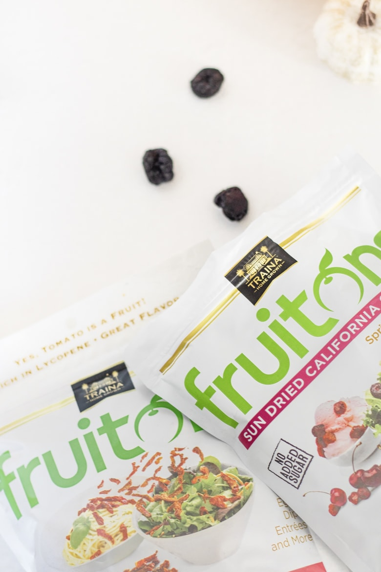 Sun Dried Tomato Fruitons and Sun-Dried Cherry Fruitons from Traina Foods