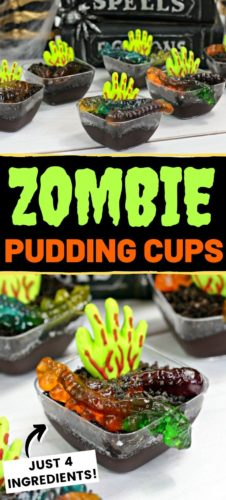 Zombie Pudding Cups