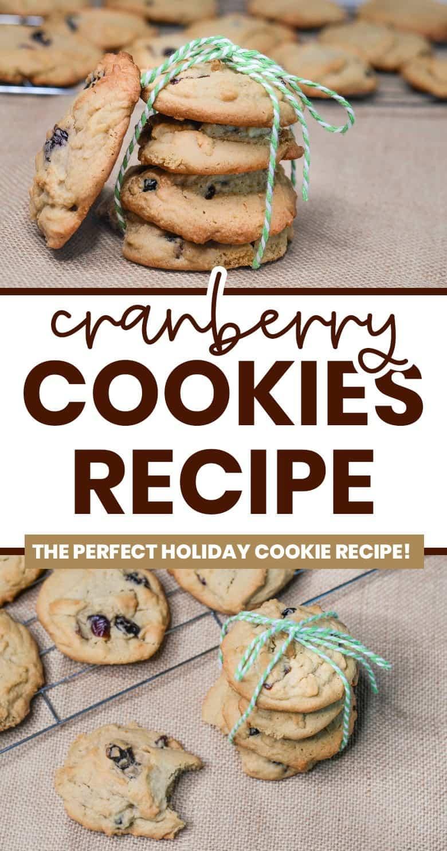 cranberry cookies pinterest image
