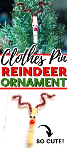 Clothes Pin Reindeer Ornament