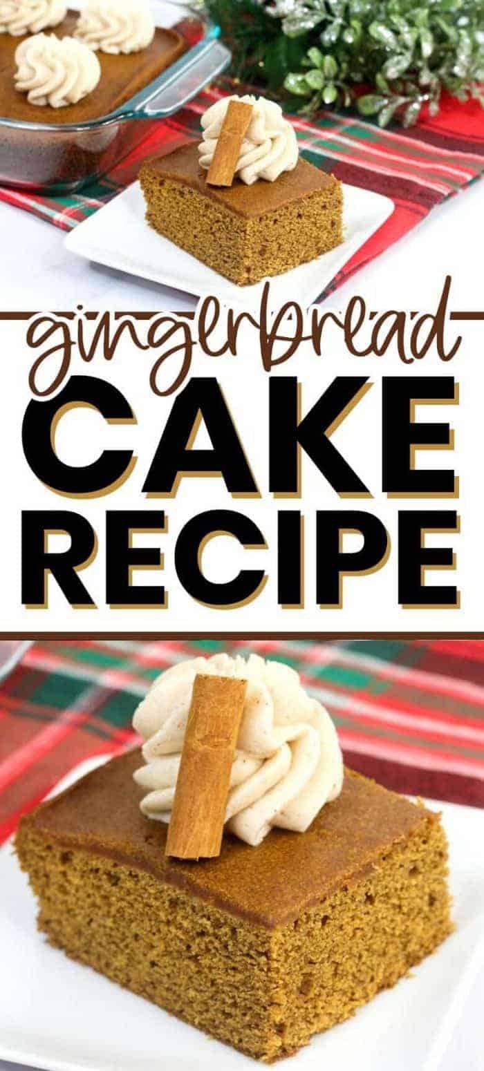 Gingerbread Cake Recipe Pin Image