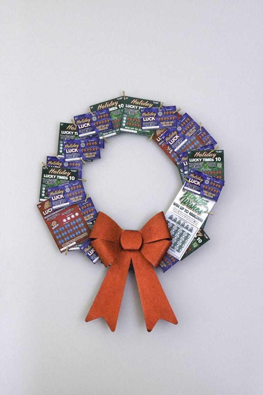 Scratch Off Lottery Ticket Wreath