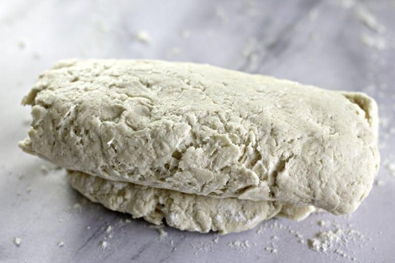 letter fold the dough