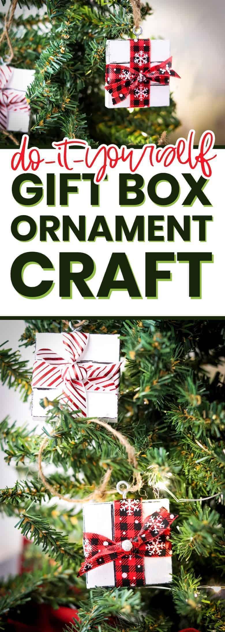DIY gift box ornament pinterest image