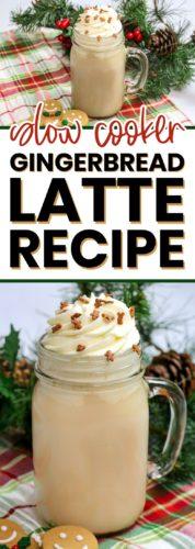 slow cooker gingerbread latte recipe pinterest image