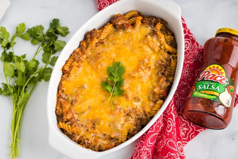 Easy Cheesy Taco Pasta Bake Recipe